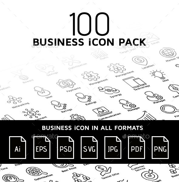 100 - Business Icon Pack v1.0 - Business Icons