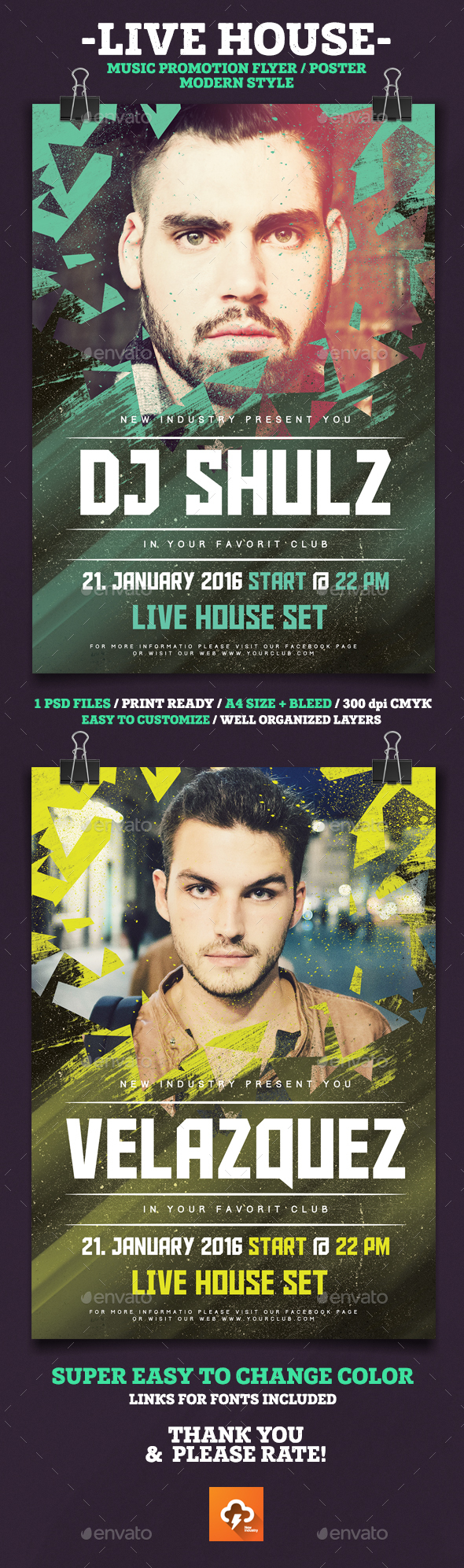 Live House Party Poster - Clubs & Parties Events