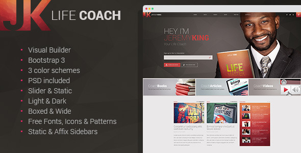 Life Coach – Multipage HTML Template with Visual Builder