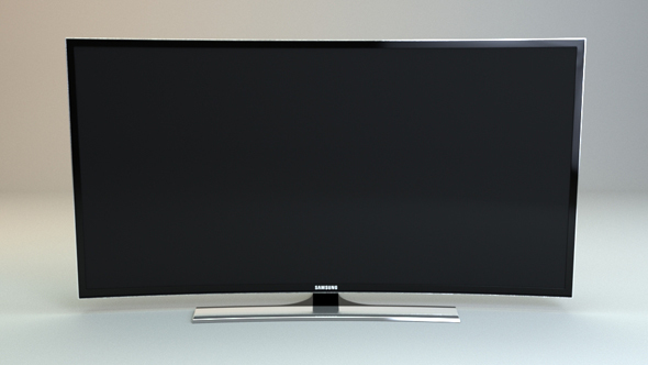 Curved Full HD tv - 3DOcean Item for Sale