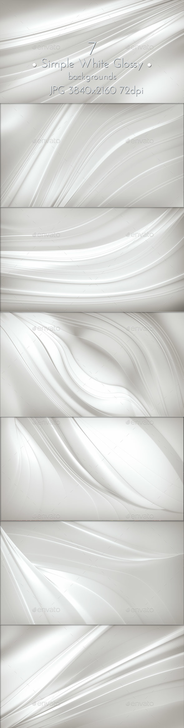 Simple White Glossy Background - Abstract Backgrounds
