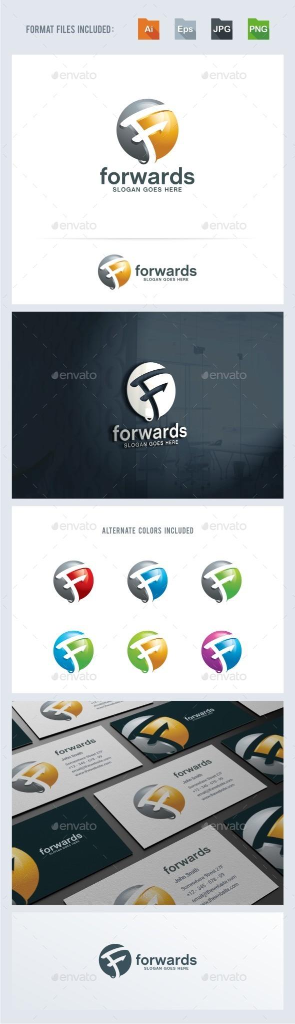 Forward - F Letter Logo Template - Letters Logo Templates