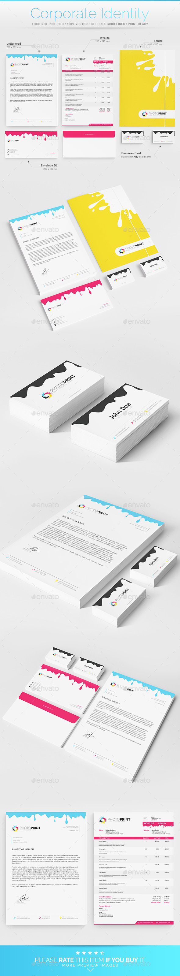 Corporate Identity - Print Industry - Stationery Print Templates