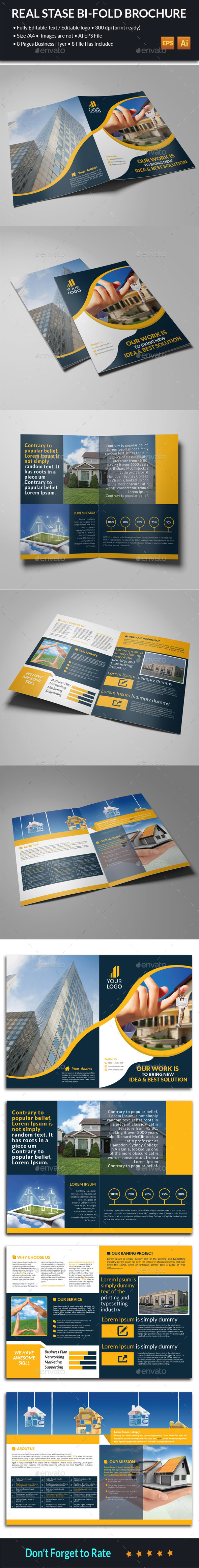 Real State Bi-Fold Brochure - Corporate Brochures