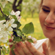 Pregnant Woman Near The Spring Blooming Apple Tree - VideoHive Item for Sale