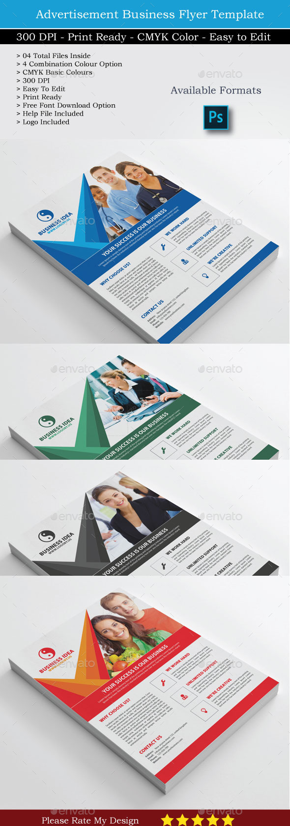 Business Idea Flyer - Corporate Flyers