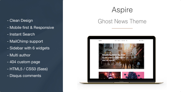 Aspire – News & Magazine Clean Ghost Theme