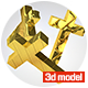 Cross 3D model - 3DOcean Item for Sale