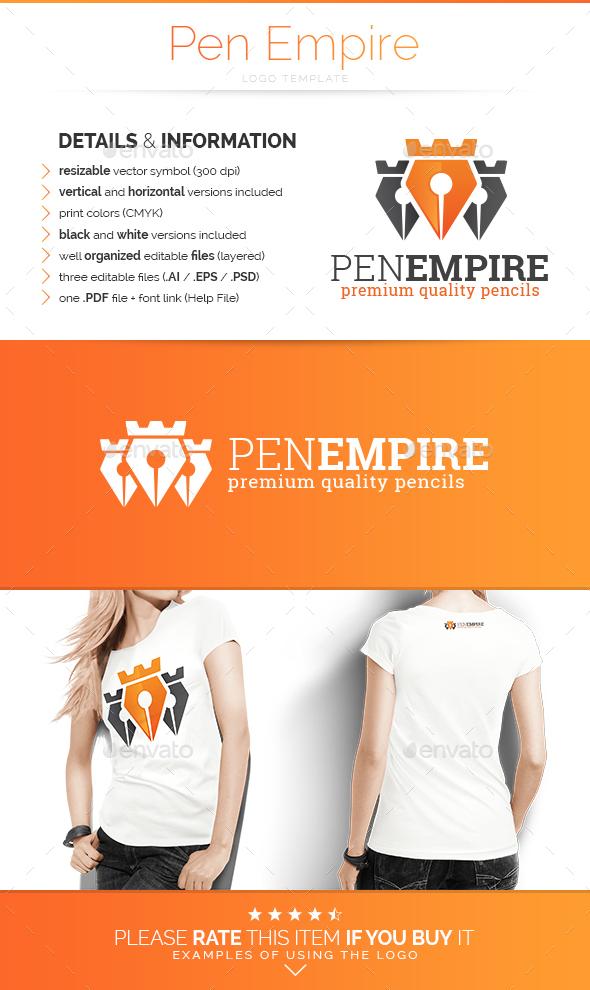 Pen Empire - Logo Template - Abstract Logo Templates