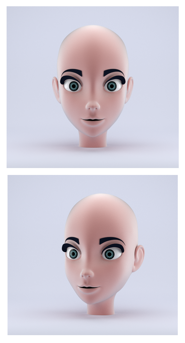 Stylized Female Head - 3DOcean Item for Sale