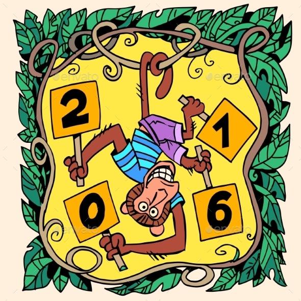 Monkey New Year 2016 - New Year Seasons/Holidays
