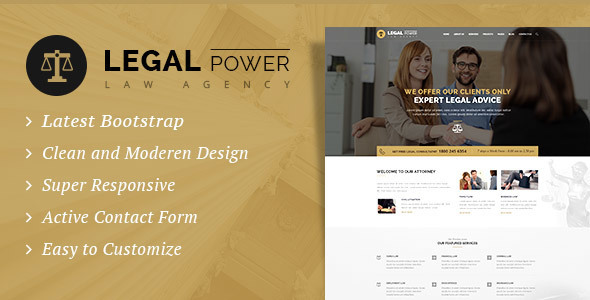 Legal Power – Law Firm HTML Template