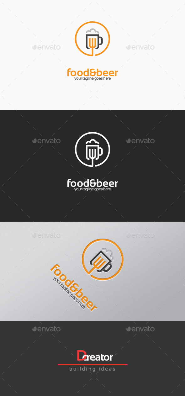 Food And Beer Logo - Food Logo Templates