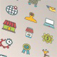 SEO Thin Line Color Icons