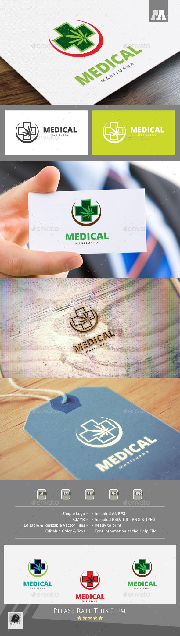 Medical Marijuana Logo - Symbols Logo Templates