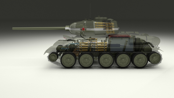 T-34/85 Interior/Engine Bay Full - 3DOcean Item for Sale