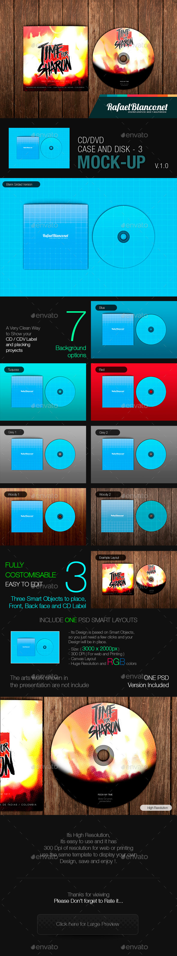 CD/DVD Case and Disk Mock-Up - 3 - Miscellaneous Packaging