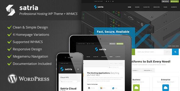 Satria – Professional Hosting WP Theme