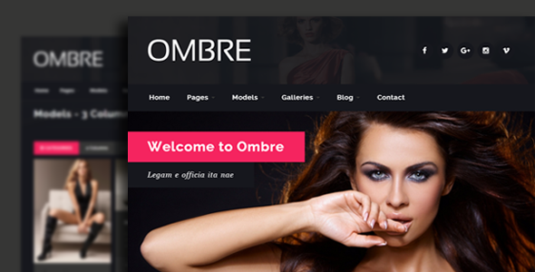 OMBRE - Model Agency Fashion Html Template - Portfolio Creative