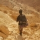 Traveler With Hiking Backpack In The Desert. - VideoHive Item for Sale