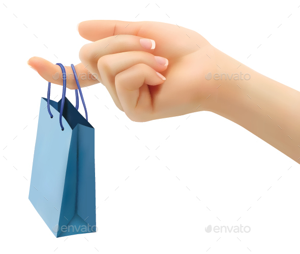 Female Hand Holding Shopping Bag - Retail Commercial / Shopping