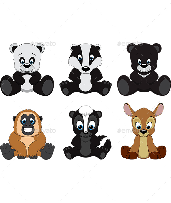 Colorful Exotic Animals Collection - Animals Characters