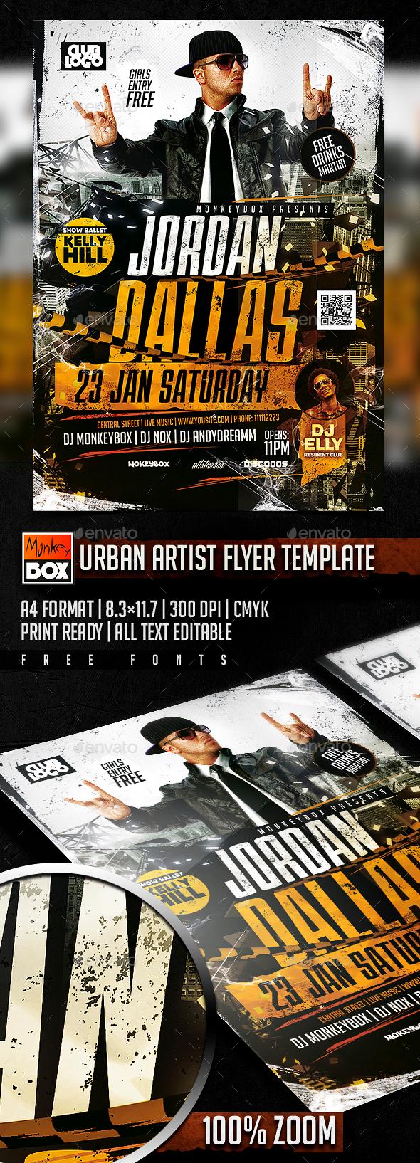 Urban Artist Flyer Template - Events Flyers