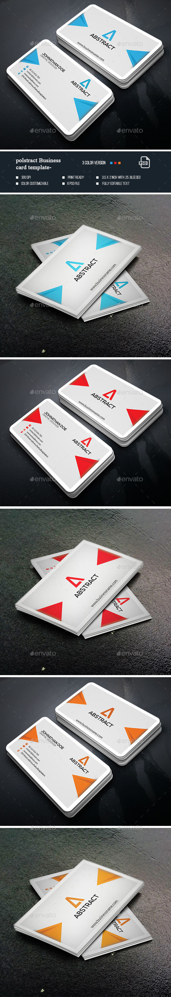 Polstract Business Card - Business Cards Print Templates