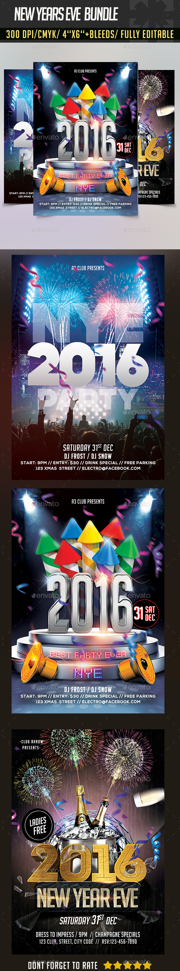 New Years Eve Flyer Bundle - Clubs & Parties Events