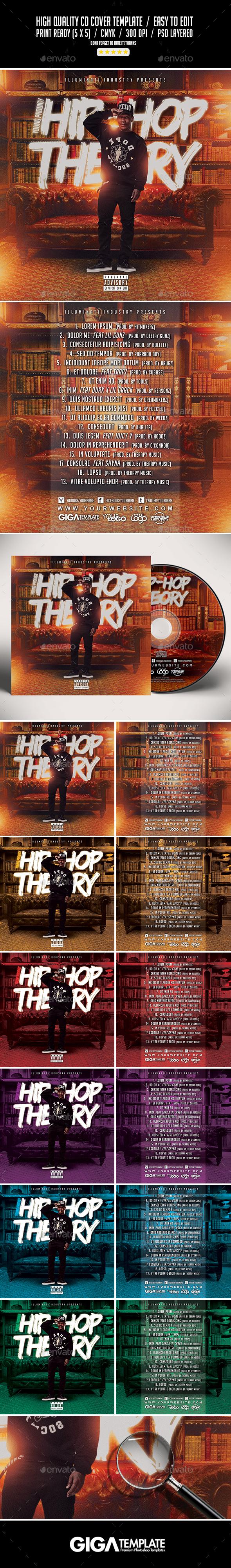 Hip-Hop Theory | Urban Future Mixtape Album CD Cover Template - CD & DVD Artwork Print Templates
