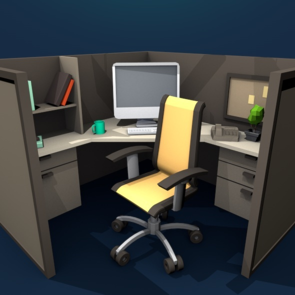Workplace Low Poly - 3DOcean Item for Sale