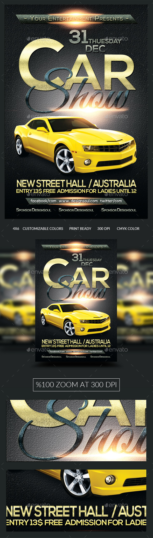 Car Show Flyer Template - Events Flyers