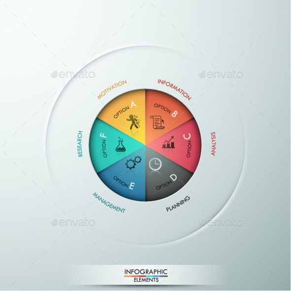 modern infographic pie chart template by andrew kras graphicriver
