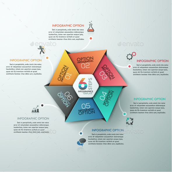 Modern Infographic Hexagon Template - Infographics