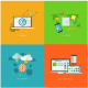 Set of 4 Flat Concepts for Web Design - GraphicRiver Item for Sale
