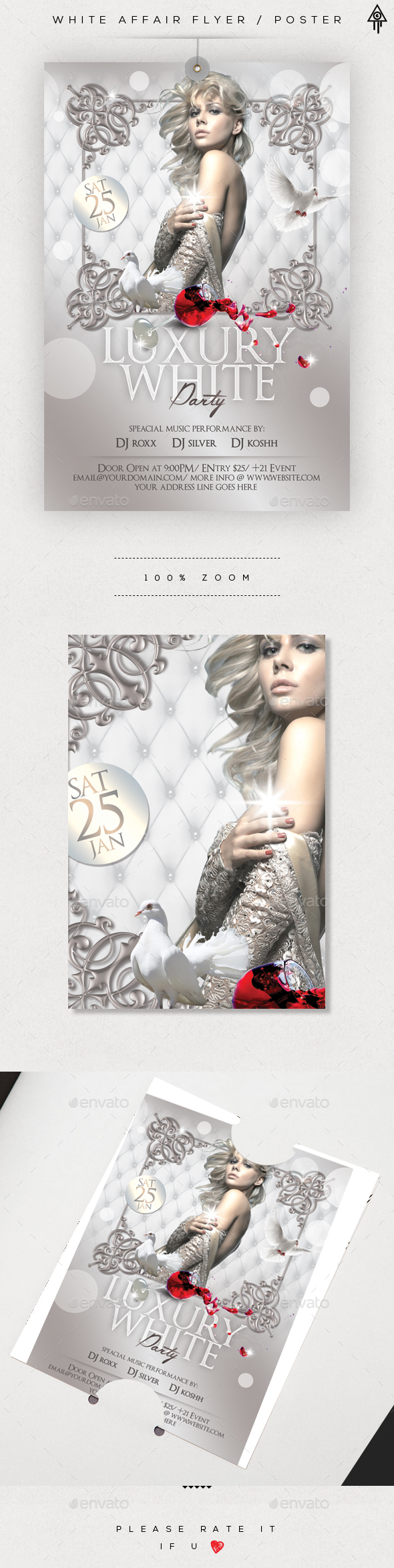 White Affair Flyer / Poster - Events Flyers