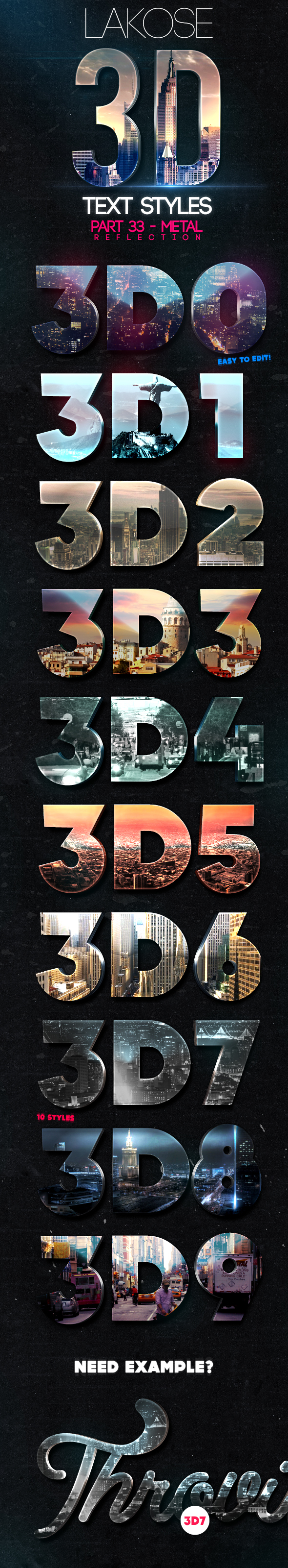 Lakose 3D Text Styles Part 33 - Text Effects Styles