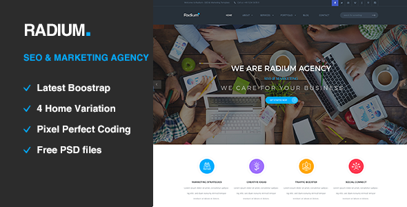 Radium – SEO /Digital Agency HTML5 Template