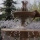 Small Cute Fountain In The City Park - VideoHive Item for Sale