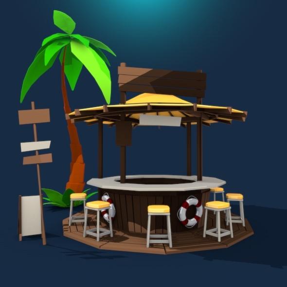 Beach Bar - 3DOcean Item for Sale