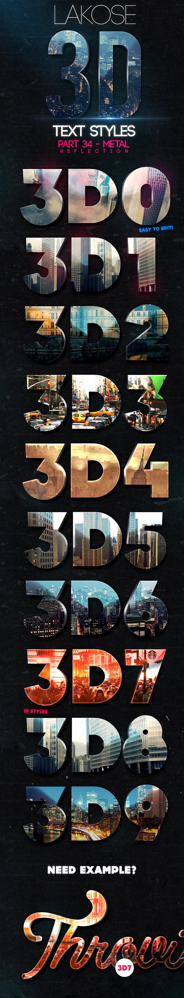 Lakose 3D Text Styles Part 34 - Text Effects Styles