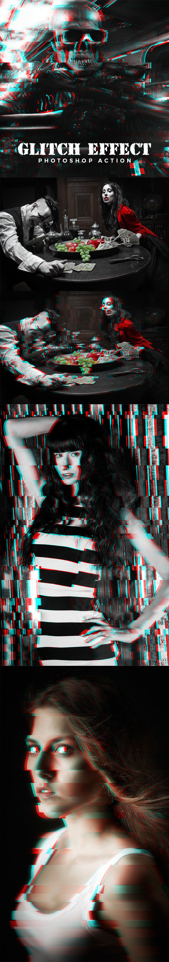 Glitch Effect Photoshop Action - Photo Effects Actions