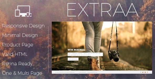 Extraa – Creative Minimal Drupal Theme