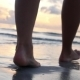 Woman Legs Walking On Beach In Sea Waves - VideoHive Item for Sale