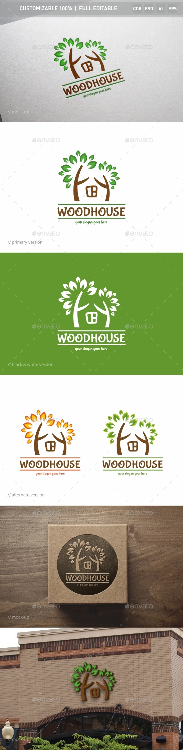 Woodhouse Logo Template - Objects Logo Templates