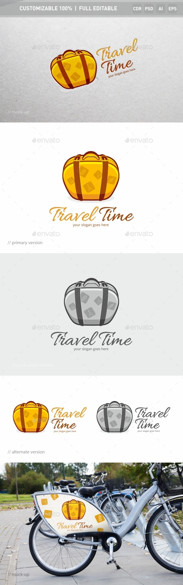 Travel Time Logo Template - Objects Logo Templates