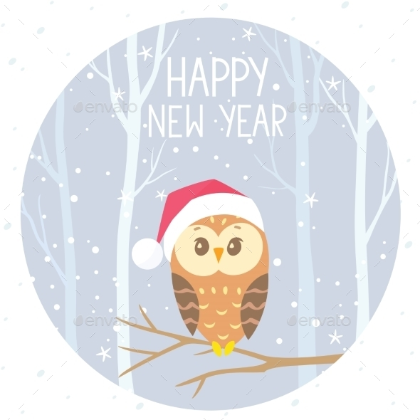 Winter Owl in Color - Christmas Seasons/Holidays
