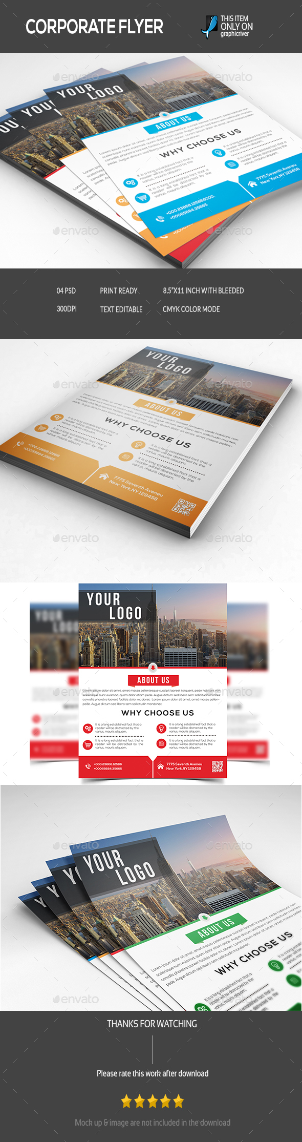 Corporate Flyer - Flyers Print Templates