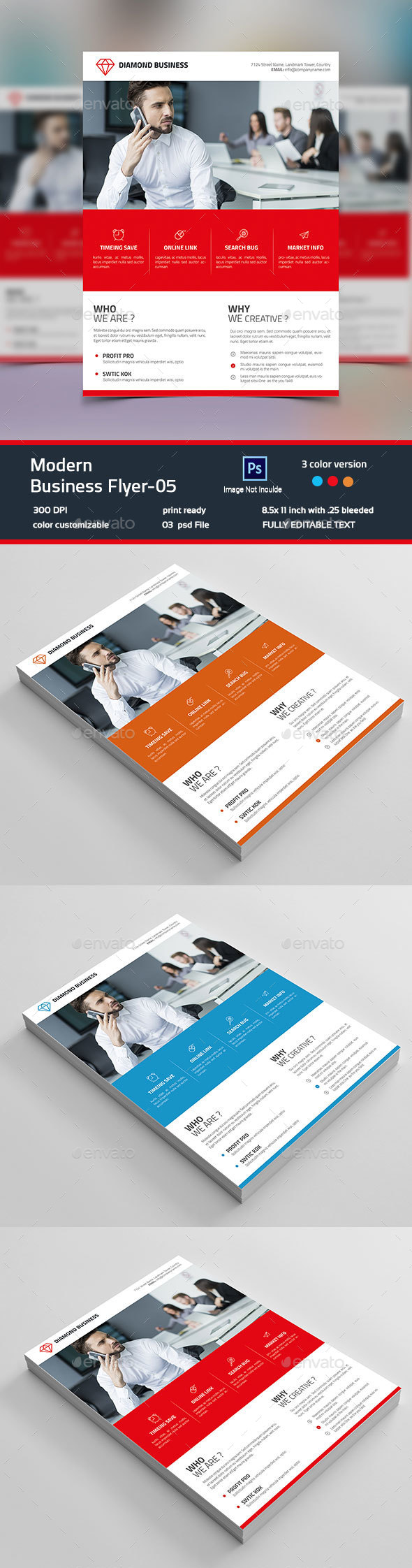 Modern Business Flyer-05 - Flyers Print Templates