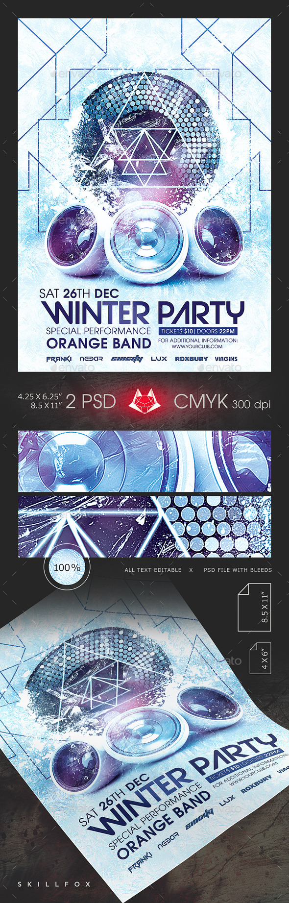 Winter Party Template - Clubs & Parties Events